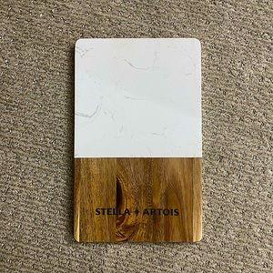 🌈3/20 Stella Artois Wood&Marble Charcuterie Board